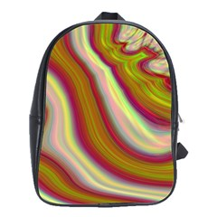 Artificial Colorful Lava Background School Bags(large)  by Simbadda