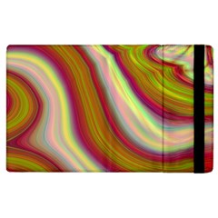 Artificial Colorful Lava Background Apple Ipad 2 Flip Case by Simbadda