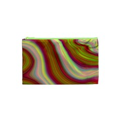 Artificial Colorful Lava Background Cosmetic Bag (xs) by Simbadda