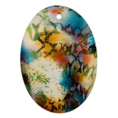 Abstract Color Splash Background Colorful Wallpaper Ornament (oval) by Simbadda