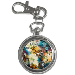 Abstract Color Splash Background Colorful Wallpaper Key Chain Watches by Simbadda