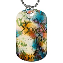 Abstract Color Splash Background Colorful Wallpaper Dog Tag (one Side) by Simbadda