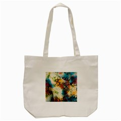 Abstract Color Splash Background Colorful Wallpaper Tote Bag (cream) by Simbadda