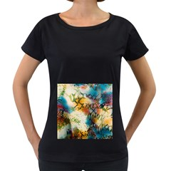 Abstract Color Splash Background Colorful Wallpaper Women s Loose Fit T Shirt (black) by Simbadda
