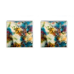 Abstract Color Splash Background Colorful Wallpaper Cufflinks (square) by Simbadda