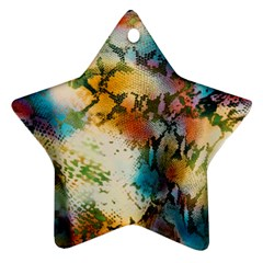 Abstract Color Splash Background Colorful Wallpaper Star Ornament (two Sides) by Simbadda