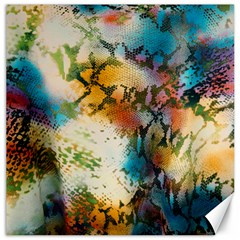 Abstract Color Splash Background Colorful Wallpaper Canvas 16  X 16   by Simbadda