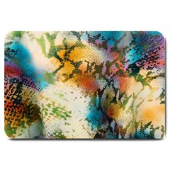 Abstract Color Splash Background Colorful Wallpaper Large Doormat  by Simbadda