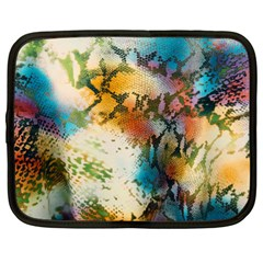 Abstract Color Splash Background Colorful Wallpaper Netbook Case (large)