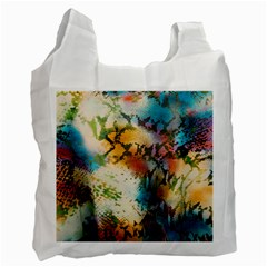 Abstract Color Splash Background Colorful Wallpaper Recycle Bag (two Side)  by Simbadda