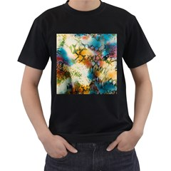 Abstract Color Splash Background Colorful Wallpaper Men s T Shirt (black) by Simbadda