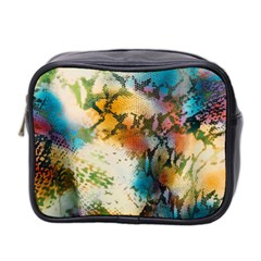 Abstract Color Splash Background Colorful Wallpaper Mini Toiletries Bag 2 Side by Simbadda