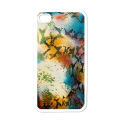 Abstract Color Splash Background Colorful Wallpaper Apple Iphone 4 Case (white) by Simbadda