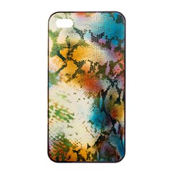 Abstract Color Splash Background Colorful Wallpaper Apple Iphone 4/4s Seamless Case (black) by Simbadda