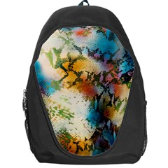 Abstract Color Splash Background Colorful Wallpaper Backpack Bag by Simbadda