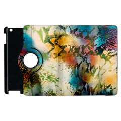 Abstract Color Splash Background Colorful Wallpaper Apple Ipad 3/4 Flip 360 Case by Simbadda
