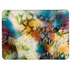 Abstract Color Splash Background Colorful Wallpaper Samsung Galaxy Tab 7  P1000 Flip Case by Simbadda