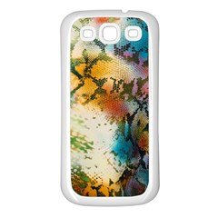 Abstract Color Splash Background Colorful Wallpaper Samsung Galaxy S3 Back Case (white) by Simbadda