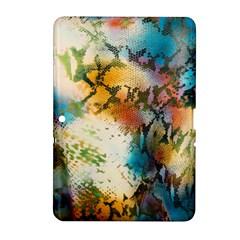 Abstract Color Splash Background Colorful Wallpaper Samsung Galaxy Tab 2 (10 1 ) P5100 Hardshell Case  by Simbadda