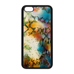Abstract Color Splash Background Colorful Wallpaper Apple Iphone 5c Seamless Case (black) by Simbadda
