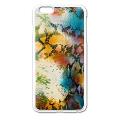 Abstract Color Splash Background Colorful Wallpaper Apple Iphone 6 Plus/6s Plus Enamel White Case by Simbadda