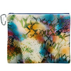 Abstract Color Splash Background Colorful Wallpaper Canvas Cosmetic Bag (xxxl) by Simbadda