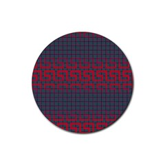 Abstract Tiling Pattern Background Rubber Round Coaster (4 Pack)  by Simbadda