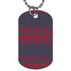 Abstract Tiling Pattern Background Dog Tag (two Sides)