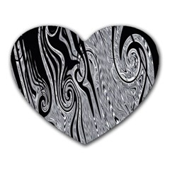 Abstract Swirling Pattern Background Wallpaper Heart Mousepads by Simbadda