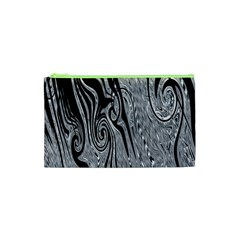 Abstract Swirling Pattern Background Wallpaper Cosmetic Bag (xs) by Simbadda