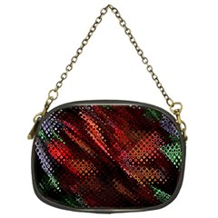 Abstract Green And Red Background Chain Purses (one Side)  by Simbadda