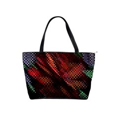 Abstract Green And Red Background Shoulder Handbags by Simbadda