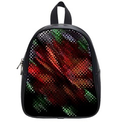 Abstract Green And Red Background School Bags (small)  by Simbadda