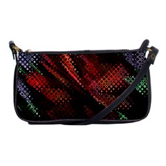 Abstract Green And Red Background Shoulder Clutch Bags by Simbadda