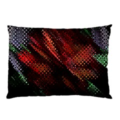 Abstract Green And Red Background Pillow Case (two Sides) by Simbadda