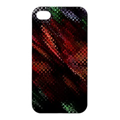 Abstract Green And Red Background Apple Iphone 4/4s Hardshell Case by Simbadda