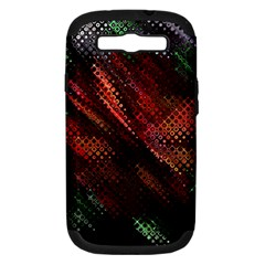 Abstract Green And Red Background Samsung Galaxy S Iii Hardshell Case (pc+silicone) by Simbadda