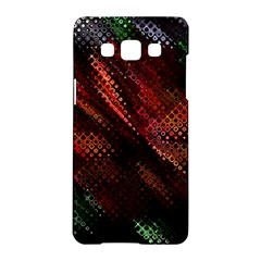 Abstract Green And Red Background Samsung Galaxy A5 Hardshell Case  by Simbadda