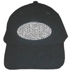 Abstract Knots Background Design Pattern Black Cap by Simbadda