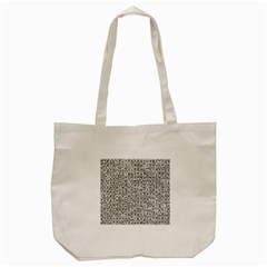 Abstract Knots Background Design Pattern Tote Bag (cream) by Simbadda