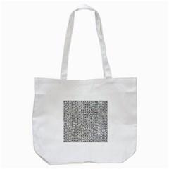 Abstract Knots Background Design Pattern Tote Bag (white) by Simbadda