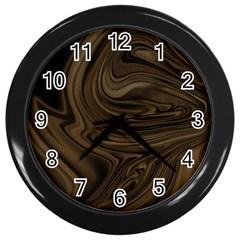Abstract Art Wall Clocks (black) by Simbadda