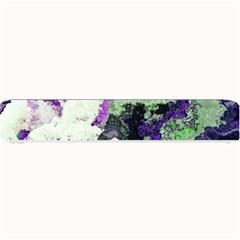 Background Abstract With Green And Purple Hues Small Bar Mats by Simbadda