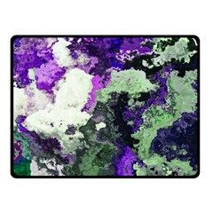 Background Abstract With Green And Purple Hues Fleece Blanket (small) by Simbadda