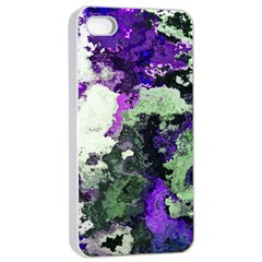 Background Abstract With Green And Purple Hues Apple Iphone 4/4s Seamless Case (white) by Simbadda