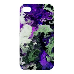 Background Abstract With Green And Purple Hues Apple Iphone 4/4s Hardshell Case by Simbadda