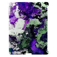 Background Abstract With Green And Purple Hues Apple Ipad 3/4 Hardshell Case (compatible With Smart Cover) by Simbadda