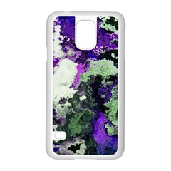 Background Abstract With Green And Purple Hues Samsung Galaxy S5 Case (white) by Simbadda