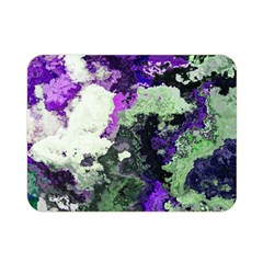 Background Abstract With Green And Purple Hues Double Sided Flano Blanket (mini)  by Simbadda