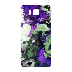 Background Abstract With Green And Purple Hues Samsung Galaxy Alpha Hardshell Back Case by Simbadda